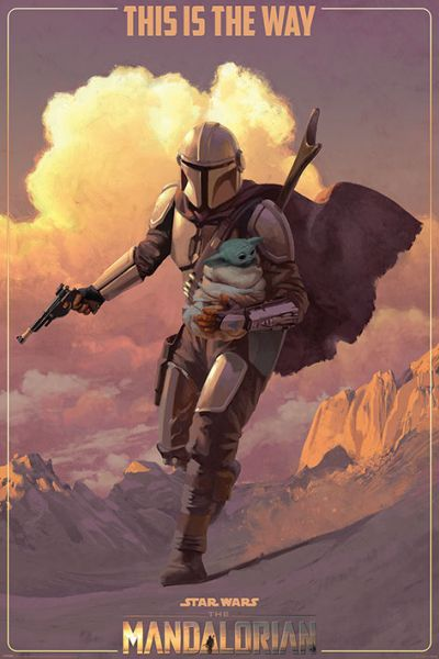 On the run Mando Maxi Poster Star Wars