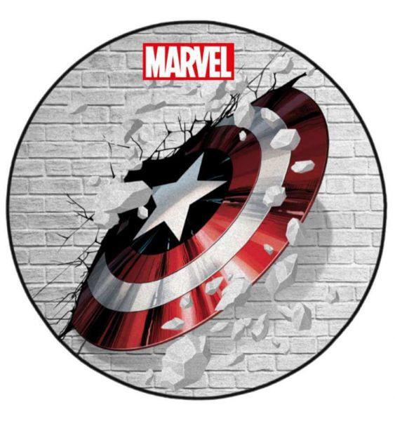 Captain America Schild Teppich rund 76 cm Marvel