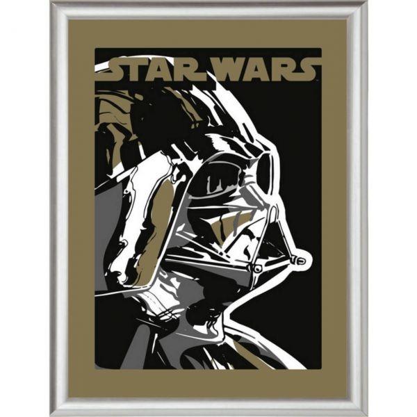 Darth Vader silber gerahmtes Bild Star Wars