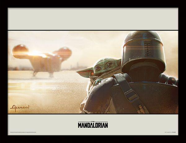 Shoulder The Mandalorian gerahmtes Bild Star Wars