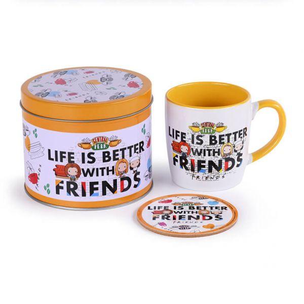 Life is better – Chibi Geschenk-Set Friends