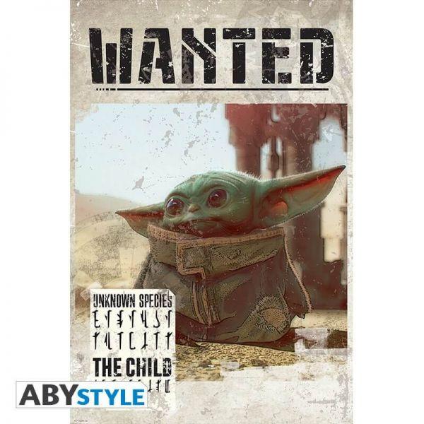 Baby Yoda Wanted Mando Maxi Poster Star Wars