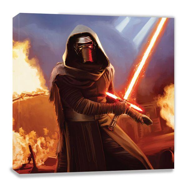 Star Wars: Episode VII (Kylo Ren Fire), Leinwanddruck