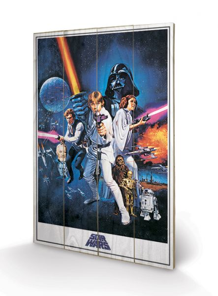 A New Hope One Sheet Holzbild Star Wars