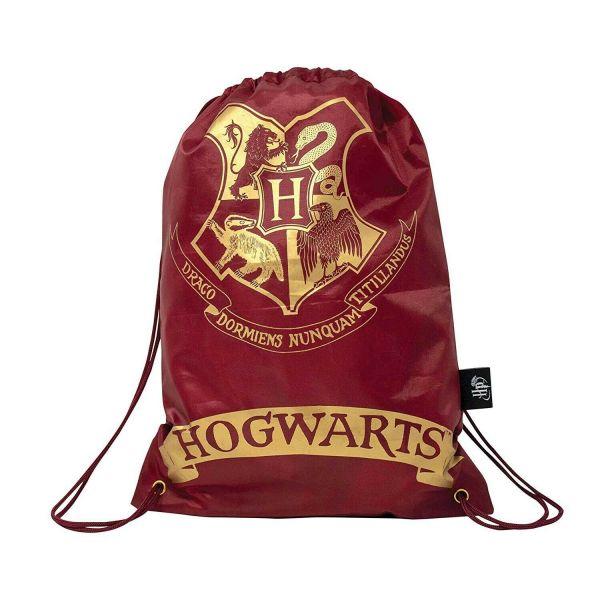 Hogwarts Logo gold auf rot Stoffbeutel Harry Potter