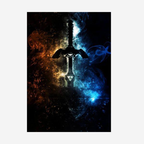 Zelda Link Meisterschwert Metall Poster Nintendo