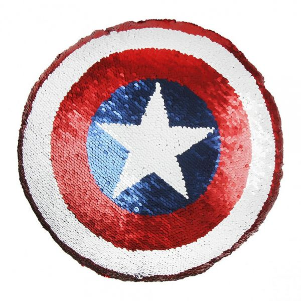 Captain America Schild Pailletten-Kissen Marvel