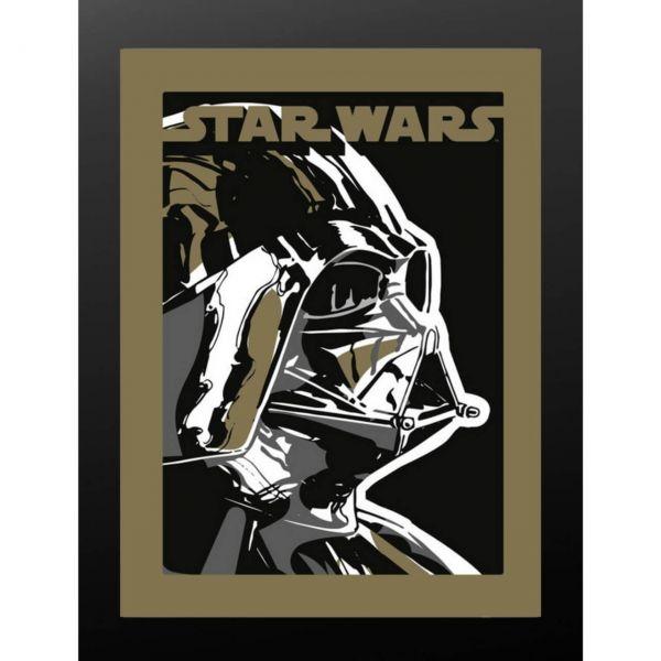 Darth Vader schwarz gerahmtes Bild MDF Star Wars