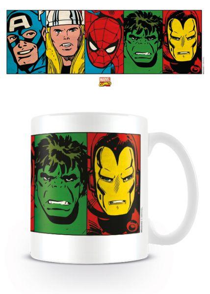 Marvel: Retro (Gesichter), Tasse