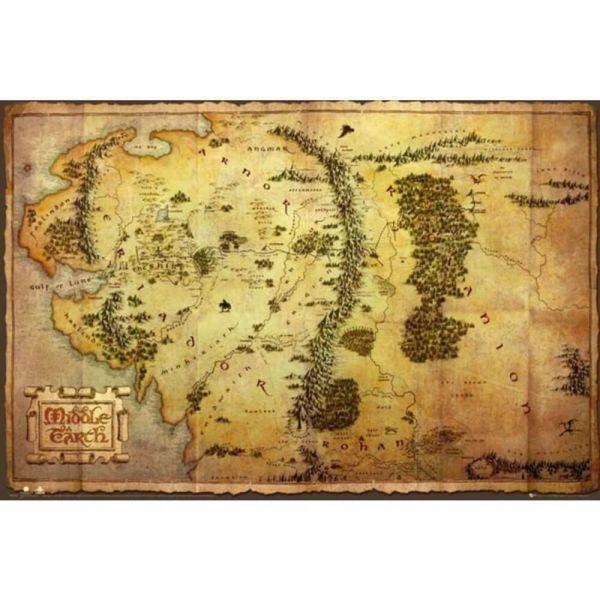 Mittelerde Karte Maxi Poster Der Hobbit