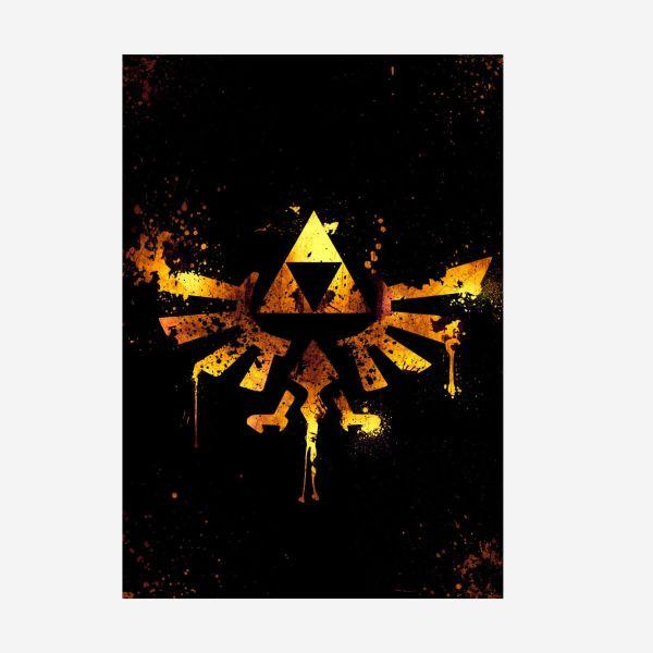 Zelda Triforce 2D Logo Metallposter