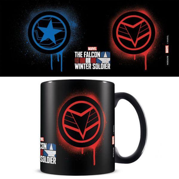 Falcon und Winter Soldier Symbol Tasse Marvel