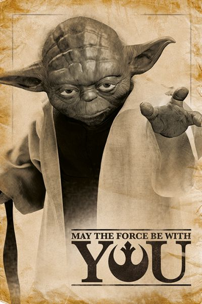 Yoda – May the Force be with you Maxi Poster Star Wars