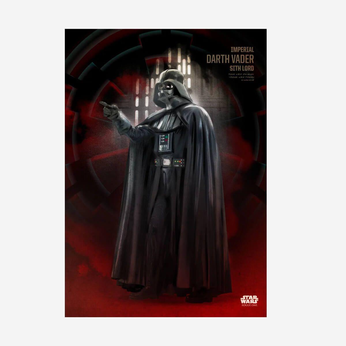 Darth Vader Rogue One Metall Poster Star Wars