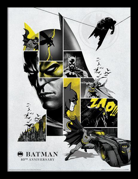 Batman 80-jähriges Jubiläum gerahmtes Bild DC Comics