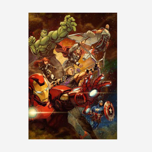 Avengers Marvel 80-jähriges Jubiläum – Metall Poster