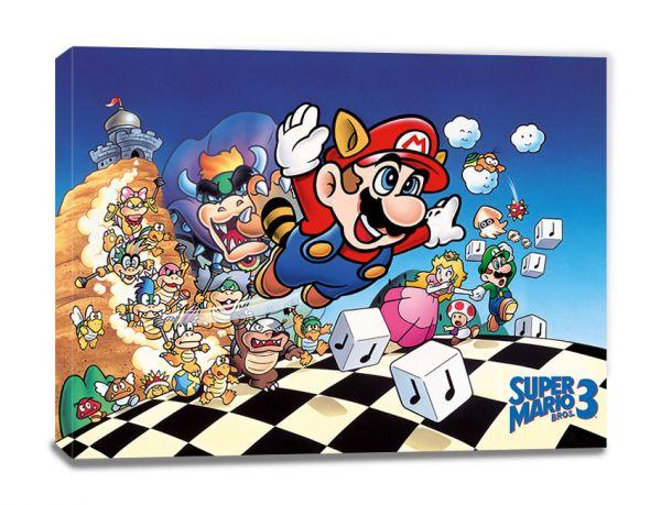 Art Super Mario Bros 3 Leinwandbild Nintendo