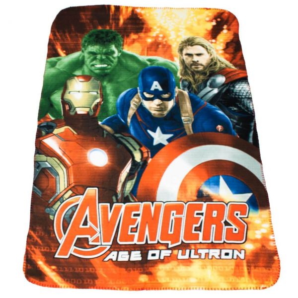 Avengers Age of Ultron Fleece Decke rot