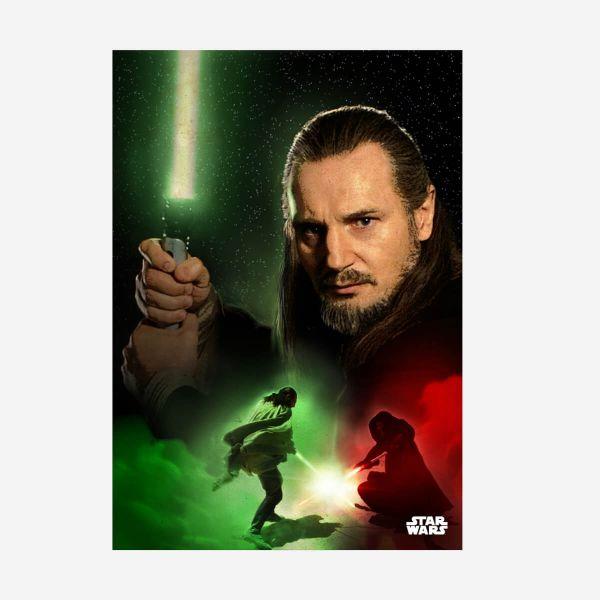 Qui-Gon Jin Star Wars – Metall Poster