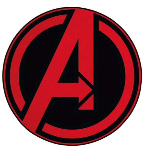 Avengers Logo Teppich rund 76 cm Marvel