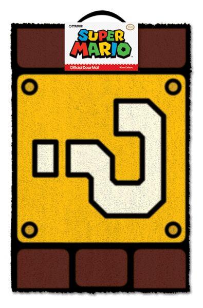 Super Mario: Fragezeichen, Fußmatte