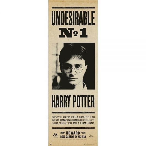Undesirable No. 1 Tür Poster Harry Potter