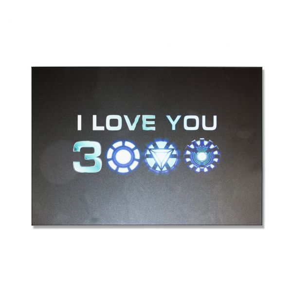 Iron Man Tony Stark I Love You 3000 – Metall Poster