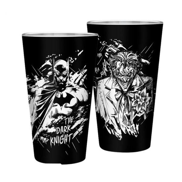Batman und Joker XXL Glas DC Comics