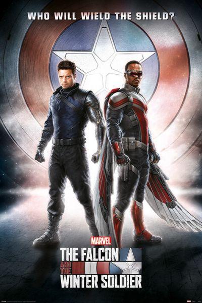 Falcon und Winter Soldier Wield the Shield Maxi Poster Marvel