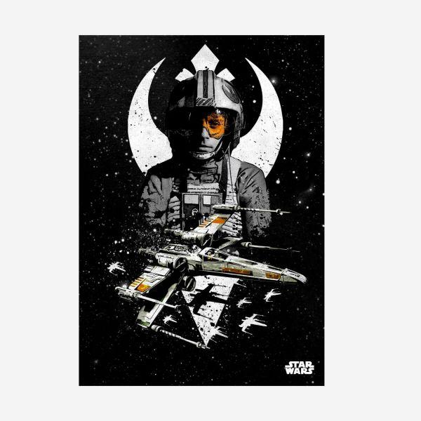 X-Wing Piloten Metall Poster Star Wars