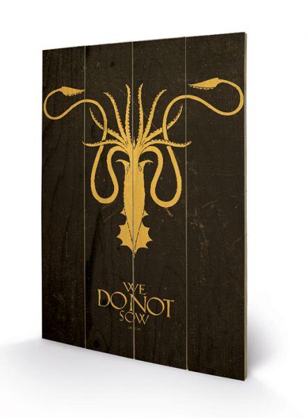 Game Of Thrones (Greyjoy), Holzdruck