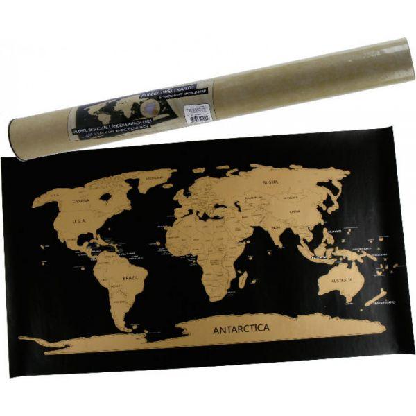 Wanddeko Rubbel-Weltkarte 80 x 45 cm