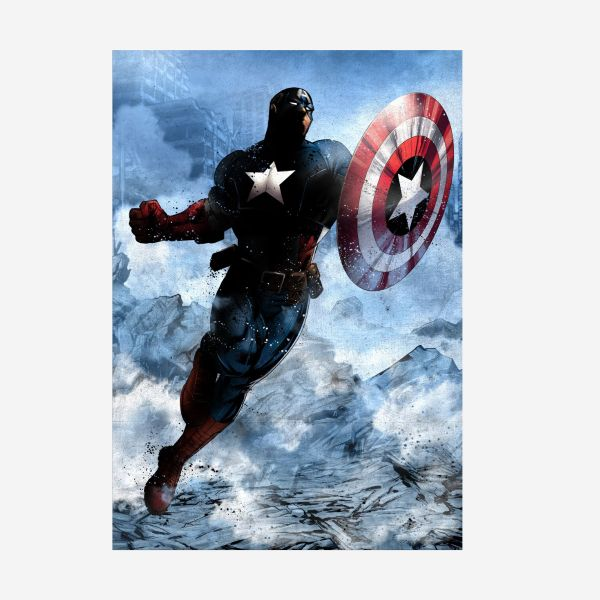 Captain America Dark Edition – Metall Poster