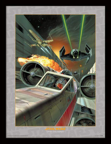 Death Star Assault Kunstdruck (Star Wars) im Holzrahmen