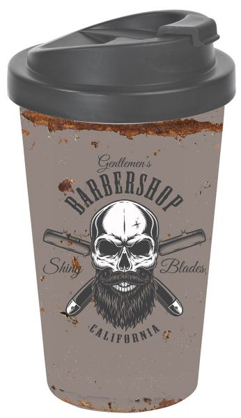 Barber Skull Beard To-Go-Becher Totenkopf