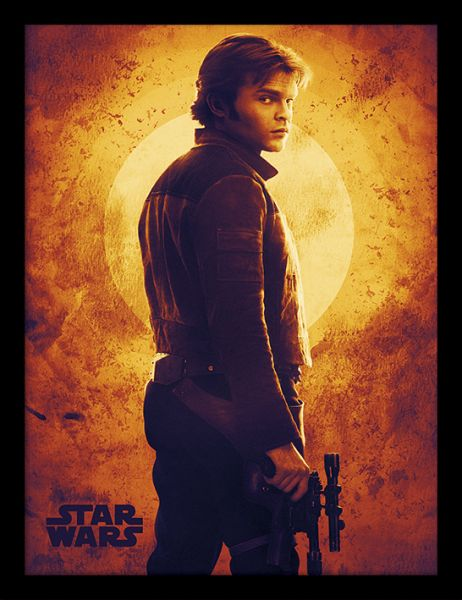 Sunset Solo A Star Wars Story gerahmtes Bild Star Wars