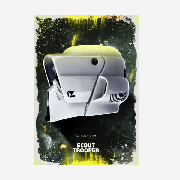 Scout Trooper Helm Star Wars – Metall Poster