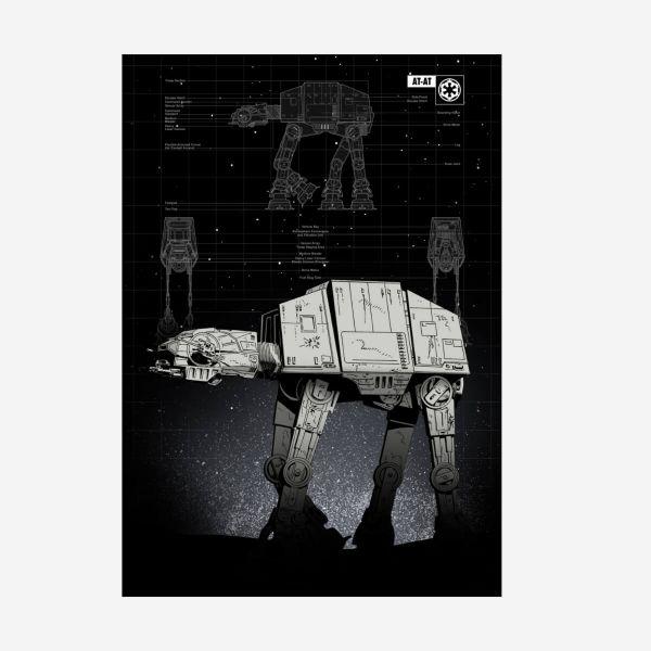 AT-AT Metall Poster Star Wars