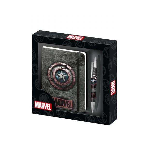 Captain America Schreibwaren 2er-Set Marvel