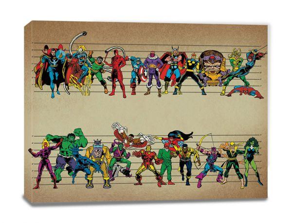 Comics Line Up Leinwandbild Marvel
