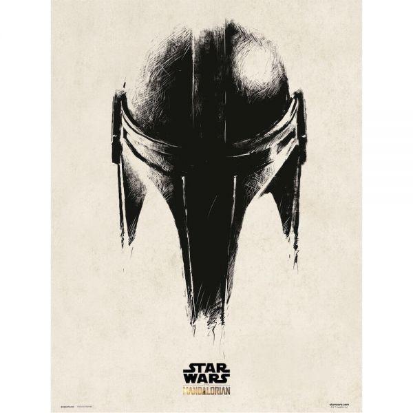 Mando Helm The Mandalorian Kunstdruck Star Wars