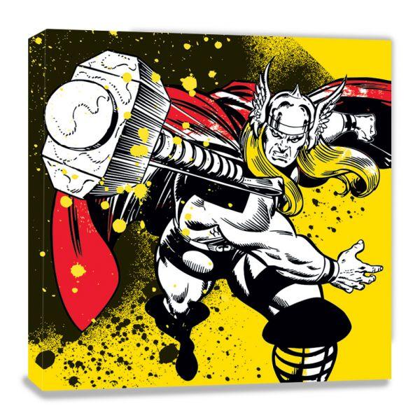 Marvel Comics: Thor (Splatter), Leinwanddruck