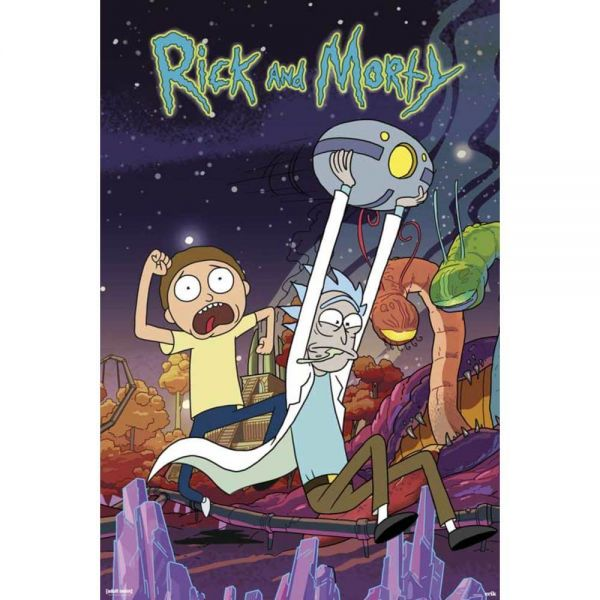 Rick and Morty Planet Maxi Poster
