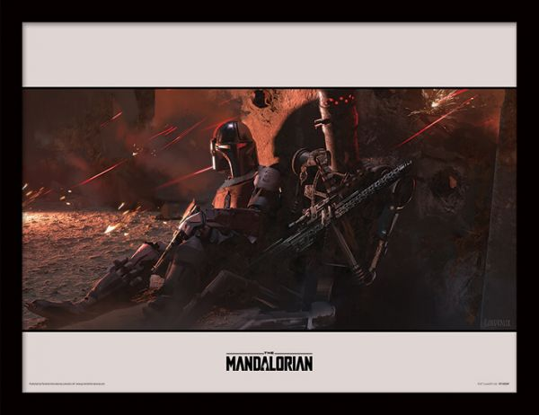 Cover The Mandalorian gerahmtes Bild Star Wars