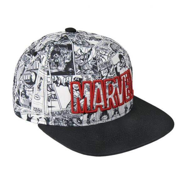 Retro Comic Snapback Cap Marvel