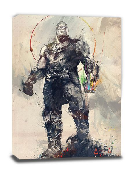 Avengers: Infinity War (Thanos Sketch), Leinwandbild