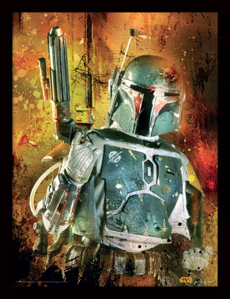Star Wars: Boba Fett Painted, Gerahmt
