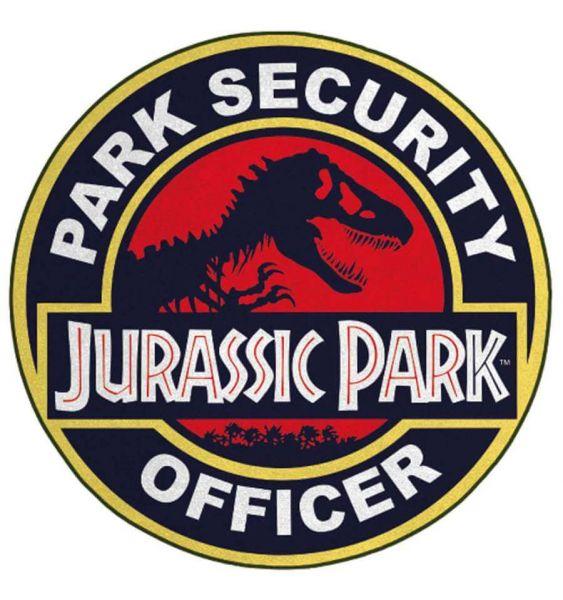 Park Security Officer Teppich rund 76 cm Jurassic Park