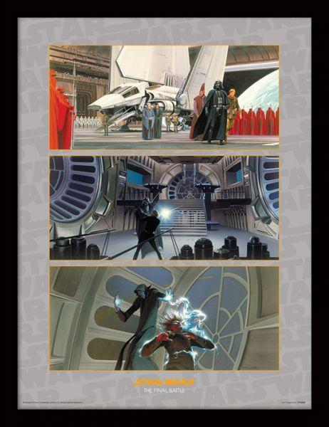Star Wars, The Final Battle Kunstdruck im Holzrahmen