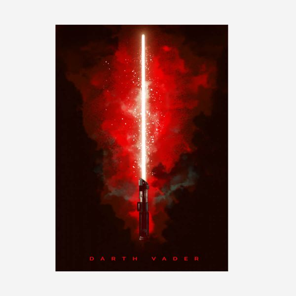Revenge of the Sith Lichtschwert Darth Vader – Metall Poster